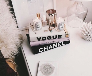 vogue, chanel, and book image