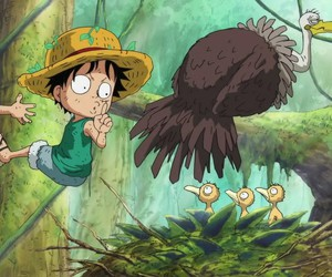 one piece, luffy, and funny image