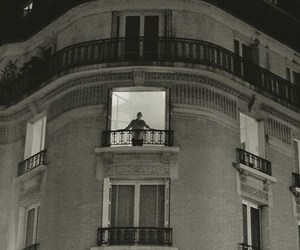balcony, black&white, and building image