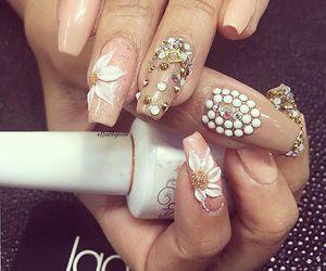 nails, nail decals, and nail design image