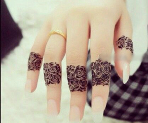 henna, indian, and tattoo image