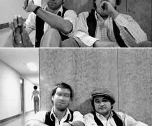 Chevy Chase, John Belushi, and snl image