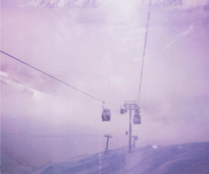 mountains, snow, and purple image