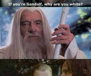 funny, gandalf, and aragorn image