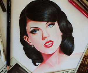 drawing, Taylor Swift, and wildest dreams image
