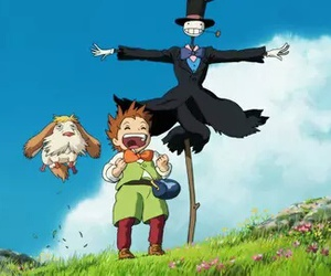 anime, howl's moving castle, and ghibli image