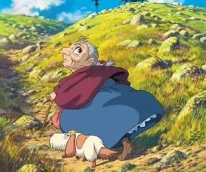 howl's moving castle, anime, and Hayao Miyazaki image