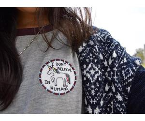 girl, outfit, and unicorn image