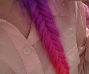 hair, violet, and trenza espiga image