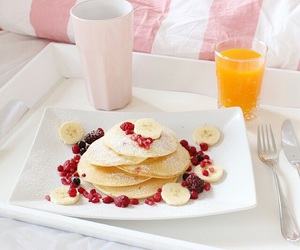 pancakes, love, and breakfast image