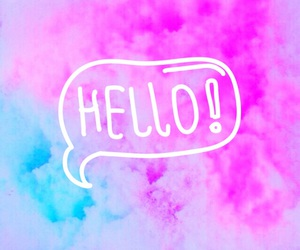 hello and pink image