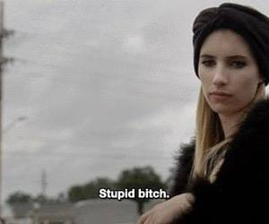 bitch, american horror story, and emma roberts image