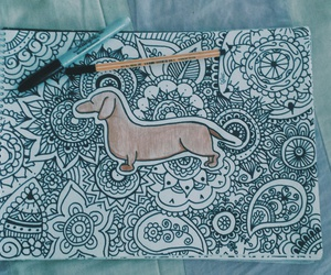 dachshund, Sharpie, and stabilo image