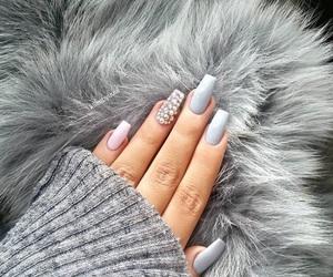 nails, fashion, and grey image