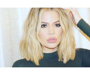 khloe, blonde, and kardashian image