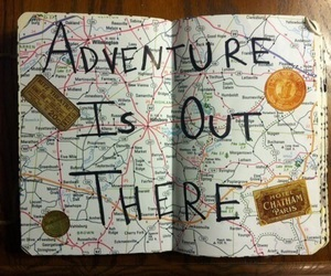 adventure, travel, and map image