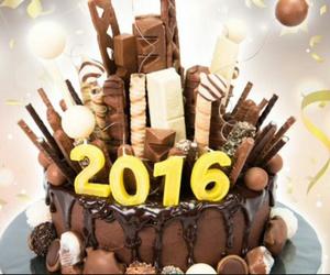 2016, cake, and chocolate image
