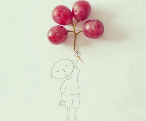 balloons, drawing, and happiness image
