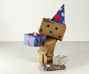 danbo, hat, and happy bday! image