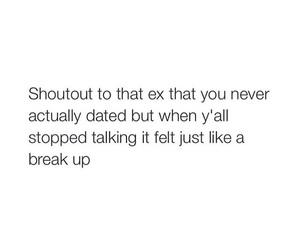 break up, crush, and dating image