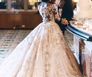 wedding, couple, and beautiful image