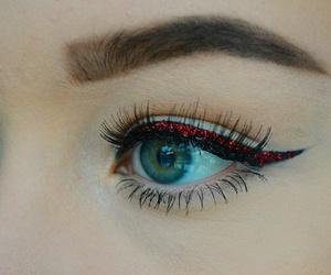 christmas, eye, and eyeliner image