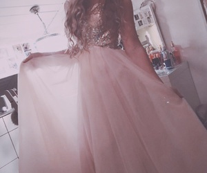 dress, pink, and promdress image