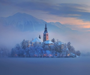 slovenia, winter, and snow image