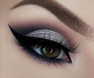eye, black, and girl image