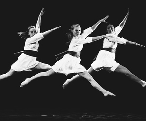 b and w, b&w, and ballet image
