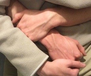 couple, hands, and veins image