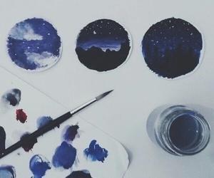 blue, brush, and landscape image