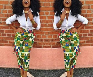 African, outfit, and smile image