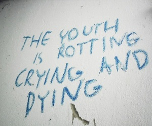 grunge, youth, and crying image