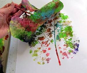 art, leaves, and colors image