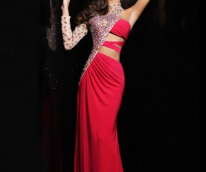 beading, evening dress, and gown image