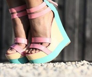 heels, pastel, and shoes image