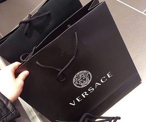 Versace, black, and shopping image