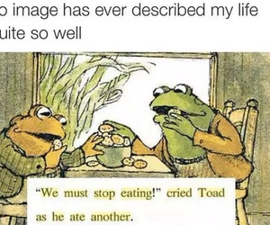 food, funny, and frog image