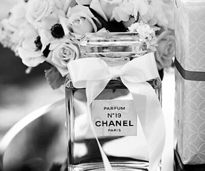 black, perfume, and chanel image