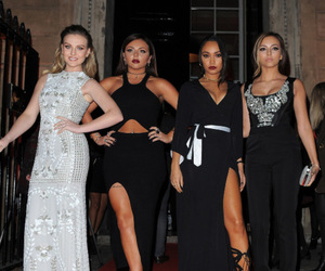 black dress, fashion, and little mix image