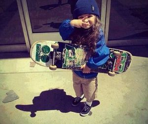 skate, baby, and skateboard image