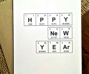 chemistry, elements, and happy new year image