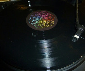 coldplay, music, and vinyl image