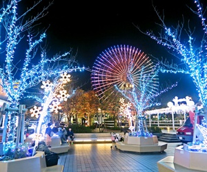 japan, city, and lights image