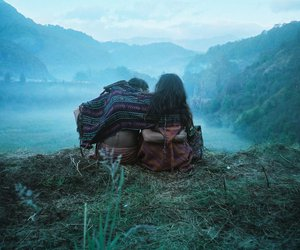 couple, mountains, and nature image
