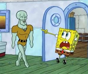 bob esponja, spongebob, and squidward image