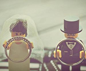 wedding, rings, and lego image