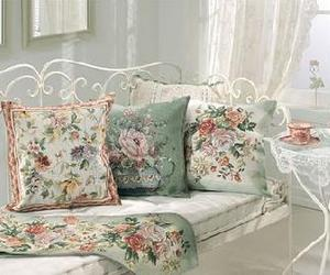 daybed, decorating, and floral image
