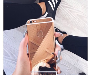 iphone, gold, and adidas image